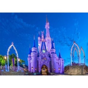 Beautiful Fairy Princess Castle Backdrop For Party Photography Background