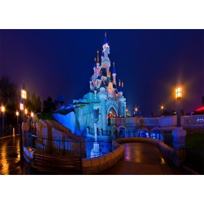 Beautiful Night Scene Castle Background For Party Photography Backdrop