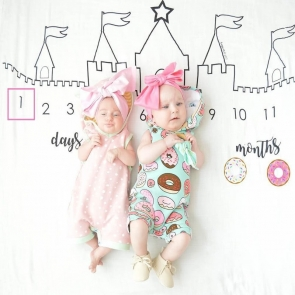 3.28 x 3.28ft Hand Painted Castle Custom Newborn Photography Backdrops