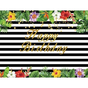 Black White Stripes Birthday Party Spade Backdrop Photography Party Background