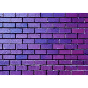 Personalise Purple Brick Wall Backdrop Decoration Prop Photo Booth Studio Photography Background