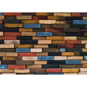 Personalise Colorful Wood Brick Wall Backdrop Decoration Prop Photo Booth Studio Photography Background