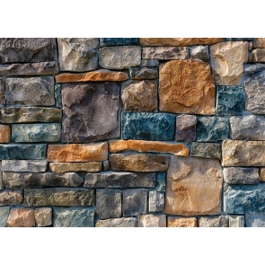 Retro Stone Rock Wall Backdrop Photo Booth Photography Background Decoration Prop
