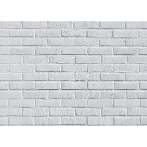 Retro White Brick Wall Backdrop Studio Decoration Prop Video Photography Background