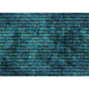 Personalise Blue Wall Brick Backdrop Decoration Prop Studio Photo Booth Video Photography Background