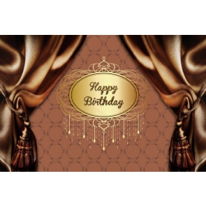 Curtain Theme Happy Birthday Backdrop Party Photography Background Decorations Props