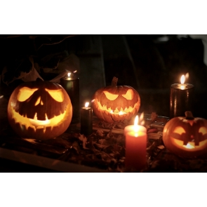 Scary Pumpkin Candlelight Halloween Party Backdrop Studio Photography Background