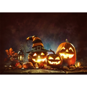 On The Wood Board Pumpkin Halloween Party Backdrop Studio Photography Background
