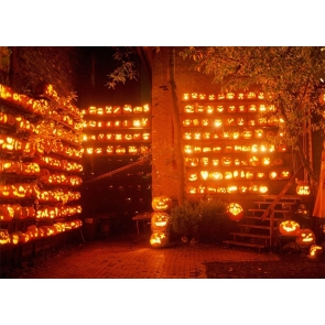 Different Kinds Candlelight Pumpkin Theme Halloween Party Backdrop Photography Background