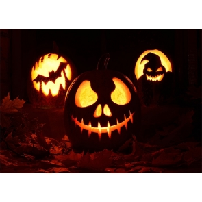 Dark Night Scary Candlelight Pumpkin Theme Halloween Party Backdrop Studio Stage Photography Background