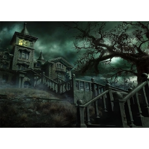 Terrifying Scary Dark Castle Halloween Backdrop Studio Stage Photography Background