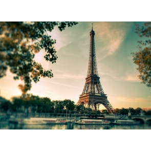 Summer Paris Eiffel Tower Backdrop Party Studio Photography Background