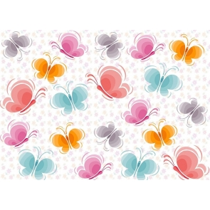 Personalized Butterfly Backdrop For Baby Shower Birthday Photography Background