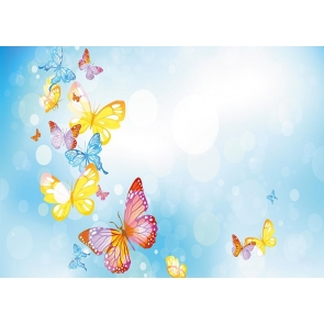 Colorful Butterfly Backdrop Baby Shower Birthday Party Photography Background