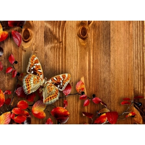 Butterfly Wood Backdrop Baby Shower Birthday Party Photography Background