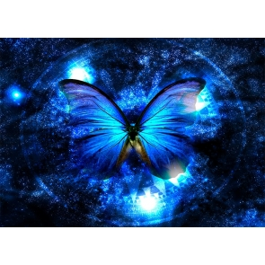 Personalized Darky Blue Butterfly Wings Backdrop Party Studio Photography Background
