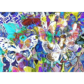 Abstract Bokeh Colorful Butterfly Backdrop Party Studio Photography Background