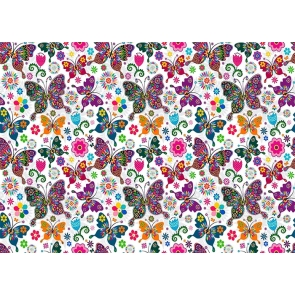 Colorful Butterfly Wall Backdrop Birthday Party Studio Photography Background