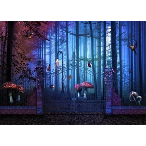Fairy Tale World Forest Mushroom Wonderland Backdrop Party Studio Photography Background