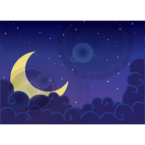 Personalized Crescent Moon Backdrop Baby Shower Wedding Party Photography Background