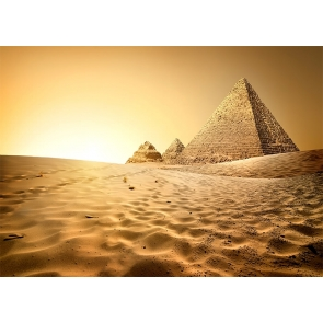 Egyptian Scenic Background Pyramid Desert Photography Backdrop For Stage Photography Prop
