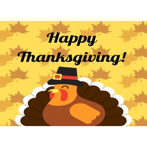 Cartoons Turkey Theme Happy Thanksgiving Backdrop Party Photography Background