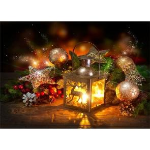 Retro Candlelight Christmas Photo Backdrop Party Photography Background