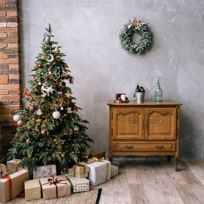 Room Interior Christmas Tree Backdrop Party Photography Background