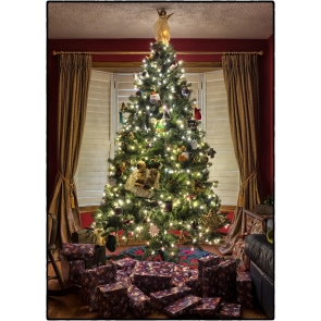 Big Christmas Tree Backdrop Party Stage Photography Background