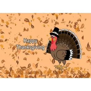 Cartoons Turkey Theme Thanksgiving Backdrop Party Stage Photography Background