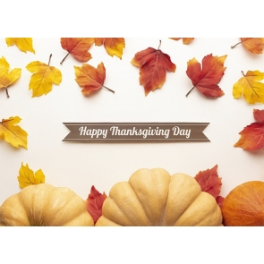 Maple Leaf Pumpkin Theme Happy Thanksgiving Day Party Backdrop Photography Background