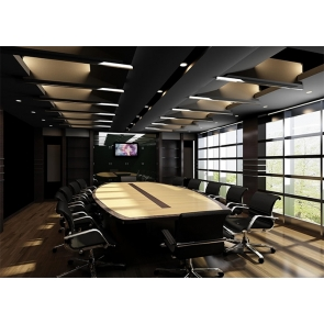 Large Meeting Room Office Backdrop Screen Virtual Video Photography Background