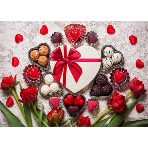 Sweet Chocolate Theme Valentines Backdrop Wedding Party Photography Background