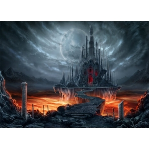 Dark Black Castle Background For Party Photography Backdrop