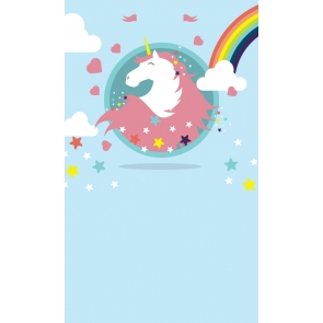 Rainbow Star Baby Photo Background Unicorn Backdrop