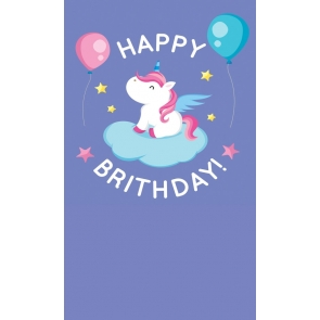 Baby Birthday Party Background Props Unicorn Backdrop