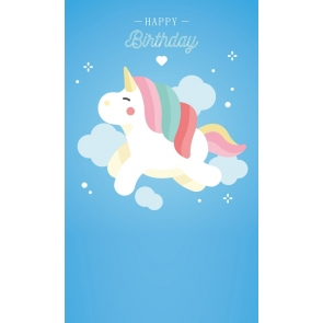Unicorn Backdrop Baby Birthday Party Background Props