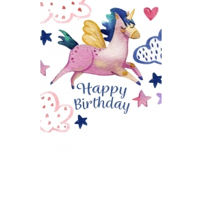 Attractive Fashion Birthday Party Unicorn Backdrop For Baby