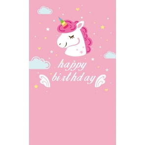 Attractive Birthday Party Background For Baby Unicorn Backdrop
