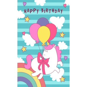 Birthday Party Unicorn Backdrop Baby Photography Props
