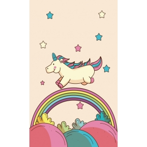 Rainbow Bridge Star Unicorn Backdrop Baby Photo Background