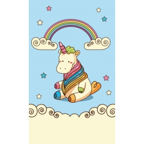 Attractive Fashion Rainbow Unicorn Backdrops For Baby Photography