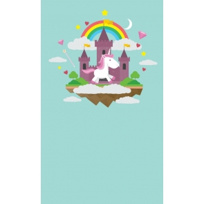 Rainbow Castle Photo Background Unicorn Backdrop For Baby