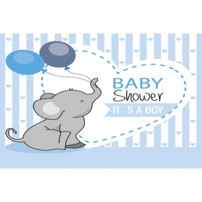 Baby Boy Shower Party Elephant  Backdrop Photography Background Decoration Prop