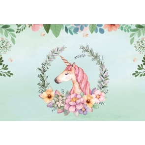 Baby Shower Happy Birthday Unicorn Backdrop Studio Photography Background Decoration Prop