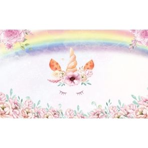 Rainbow Unicorn Photo Birthday Backdrop Baby Shower Photography Background Decoration Prop