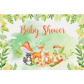 Safari Wild Theme Baby Shower Backdrop Photography Background Decoration Prop