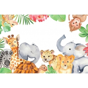 Wild Safari Theme Kid Baby Shower Happy Birthday Party Studio Photography Background Decorations Prop