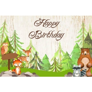 Wild Safari Theme Children Boy Happy Birthday Party Photography Background Decorations Prop