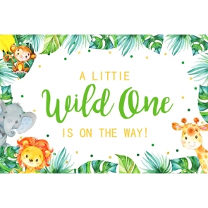 A Little Wild One Is On The Way Children 1st Happy Birthday Party Backdrop Decorations Prop